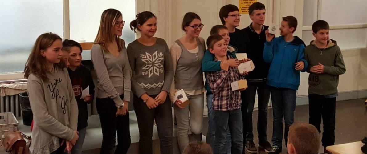 Les Lauréats du Rallye Mathématiques 2016