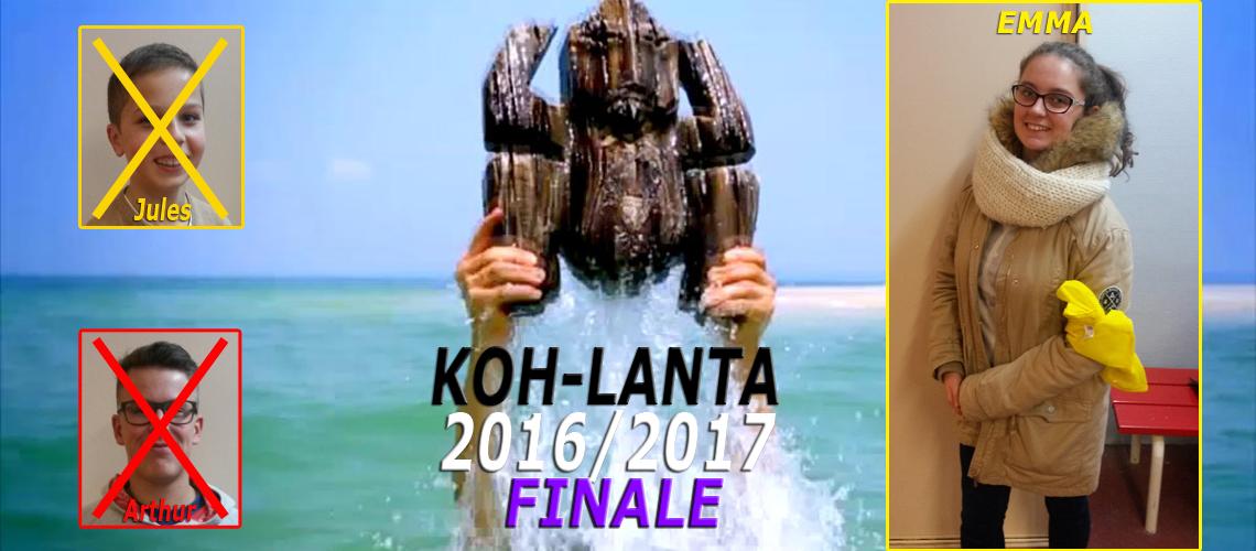 Emma Harrewyn, 3è Rouge, remporte la finale de Koh-Lanta 2016/2017