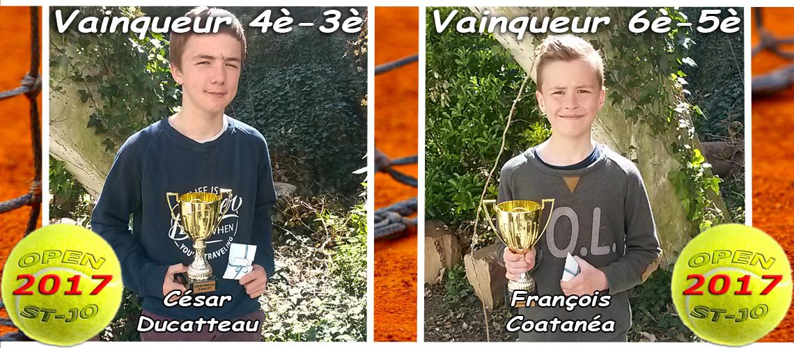 Nos deux vainqueurs de l'Open de Street Tennis 2017