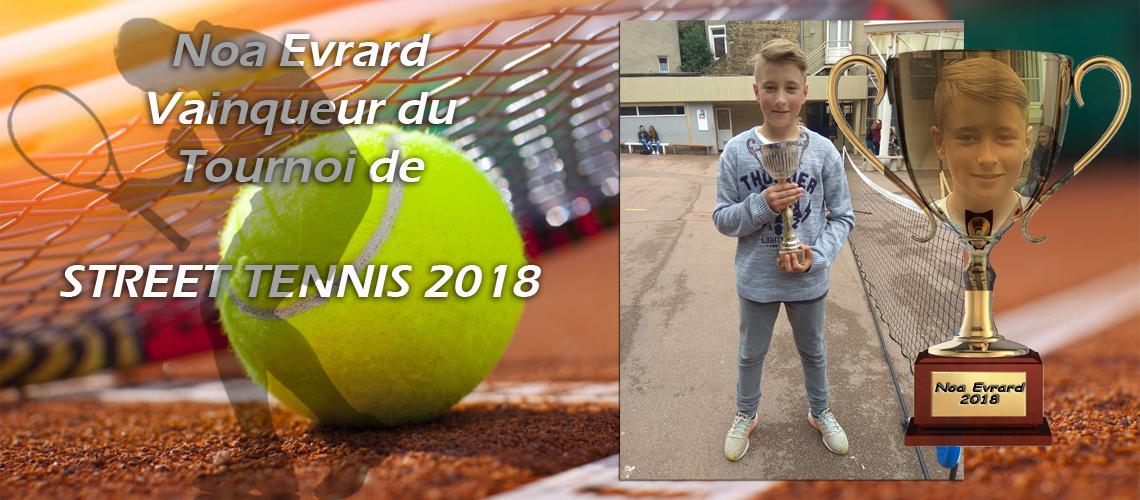 Victoire surprise de Noa Evrard contre Martin Butelle en finale du tournoi de Street Tennis